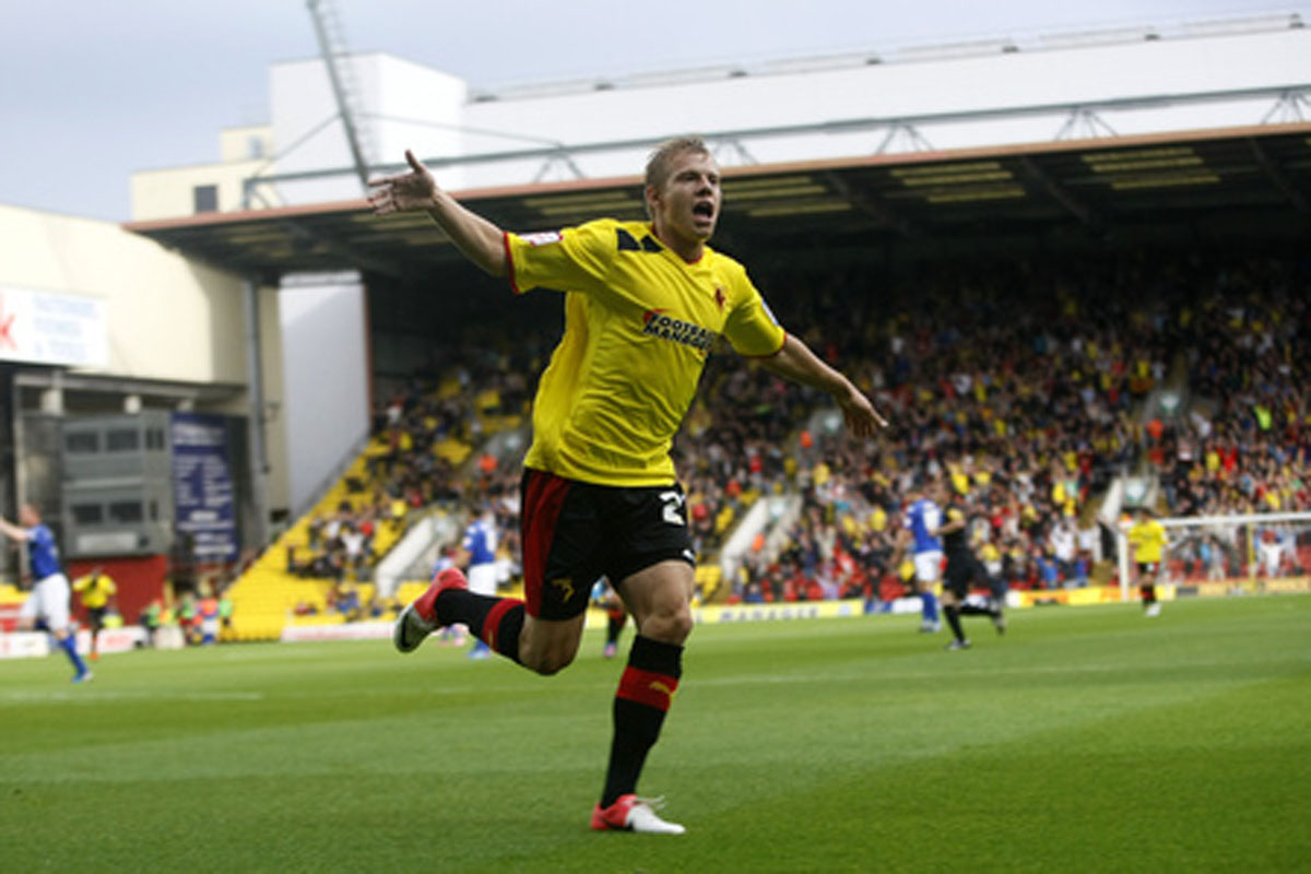 Matej Vydra got the game's only goal for Watford. Picture: Holly Cant