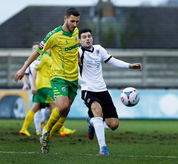 Borehamwood Times: Boreham Wood's unbeaten run was ended by Sutton United