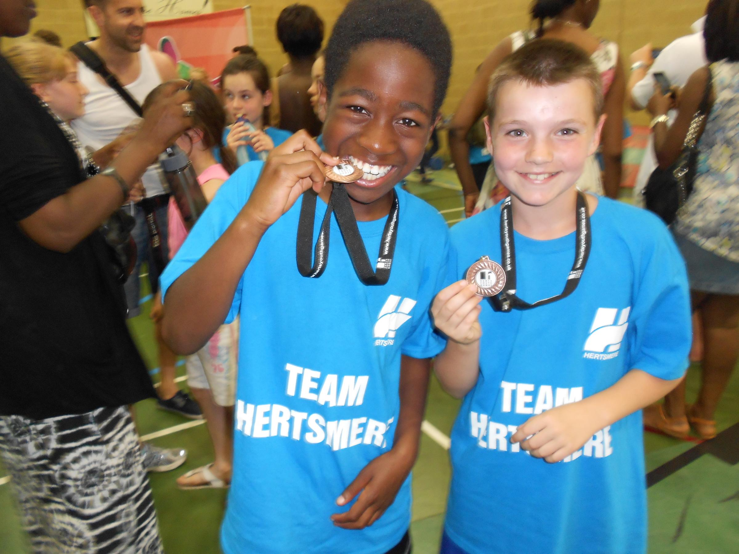 Last year's winners at the Herts Youth Games