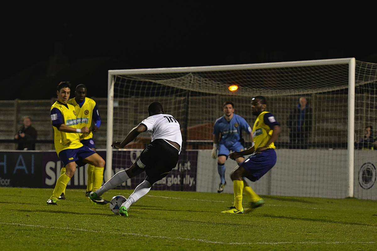 Boreham Wood were held to a draw with Farnborough: Sean Hinks