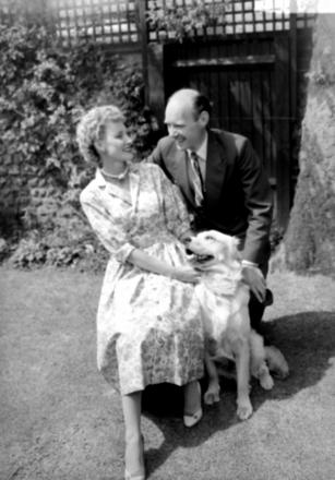Dame Anna Neagle with her husband Herbet Wilcox