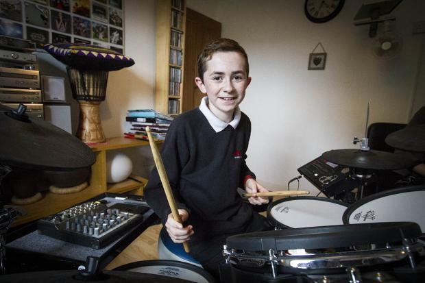 "Borehamwood Times: The ""impressive"" 12-year-old first started playing the drums almost four years ago"