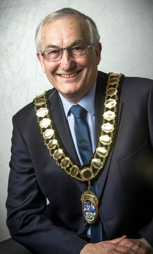 "Borehamwood Times: Councillor Clive Butchins stepped down as mayor and said it had been ""a pleasure"""