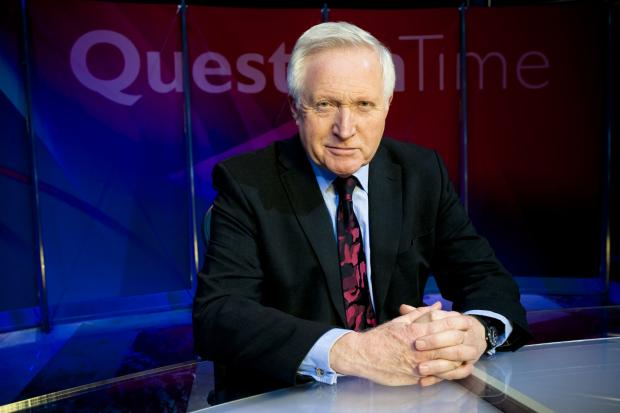 David Dimbleby will present Question Time from Elstree on May 22