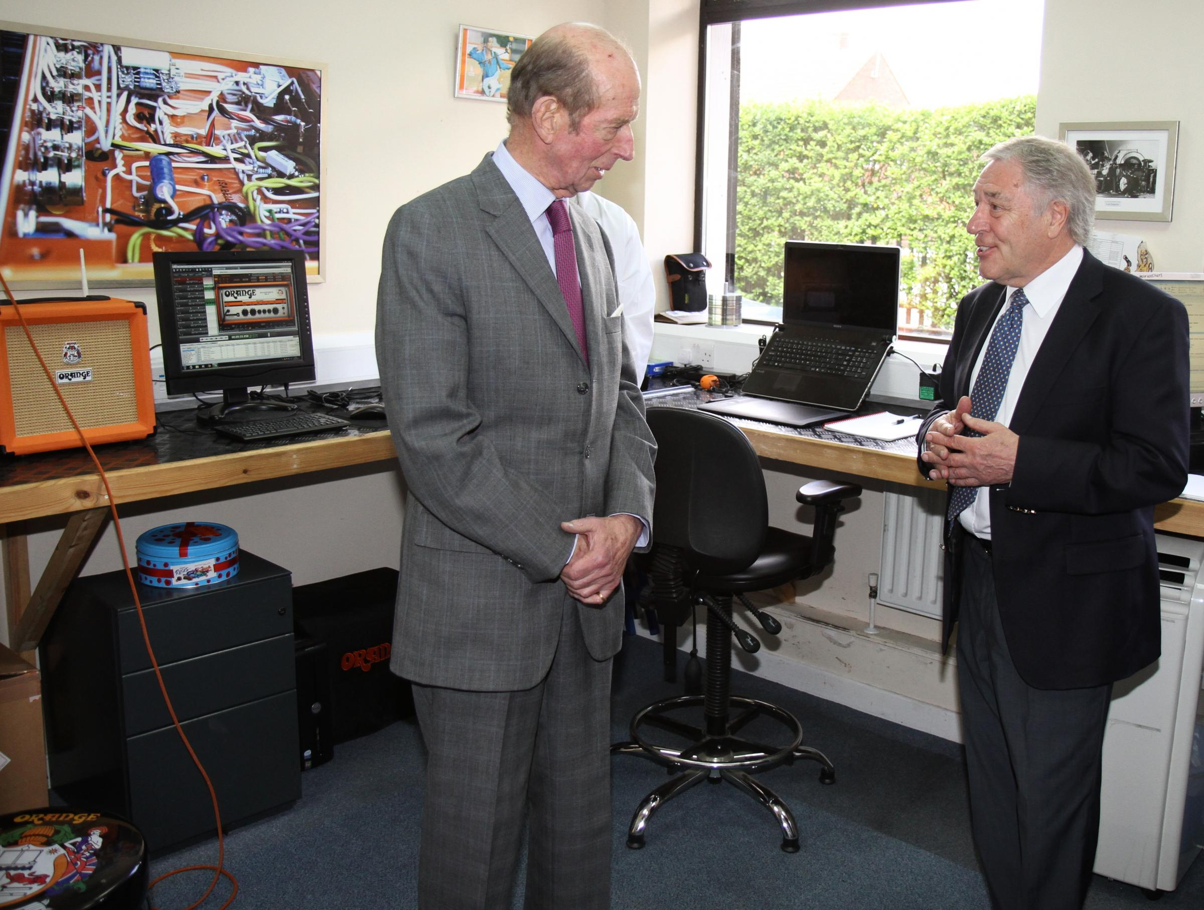 The Duke of Kent toured the company's research and development facilities with The Deputy Lieutenant of Hertfordshire, Stuart Nagler JP, along with a number of councillors and council staff.