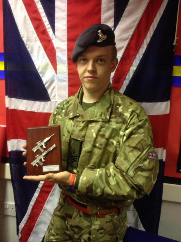 Borehamwood Times: Max Fuller, 18, has been with the detachment for more than six years and is now one of their most senior cadets