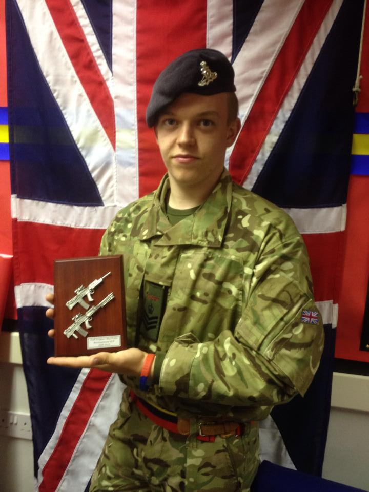 Max Fuller, 18, has been with the detachment for more than six years and is now one of their most senior cadets