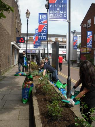 Elstree and Borehamwood Town Council helped to fund the tidy up, which was carried out by volunteers and members of the Youth Council