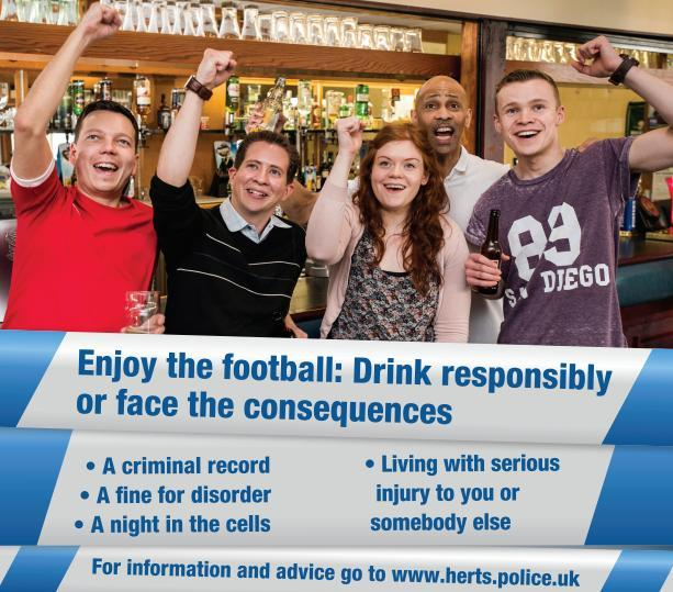 Hertfordshire's Alcohol Campaigns Group campaign includes county-wide posters, mirror stickers, street adverts and beermats reminding people to stay safe.