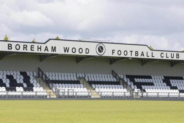 Boreham Wood FC has submitted an application for the construction of three prefabricated buildings in the car park and grass verge of the club grounds