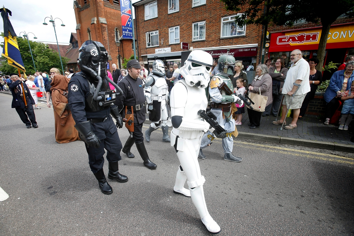 Where else could you see stormtroopers and Routemasters in the carnival parade?