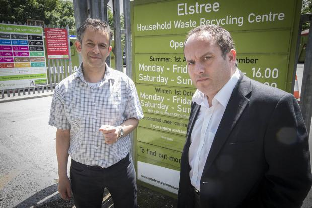 Borehamwood Times: Hertsmere Borough Council leader Morris Bright and Elstree councillor Harvey Cohen hope to encourage residents to share their views and prevent the closure.