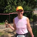 Borehamwood Times: Fundraiser Allison Kaye took part in last weekend's 10k run with her son Sam- managing to win the ladies' race.