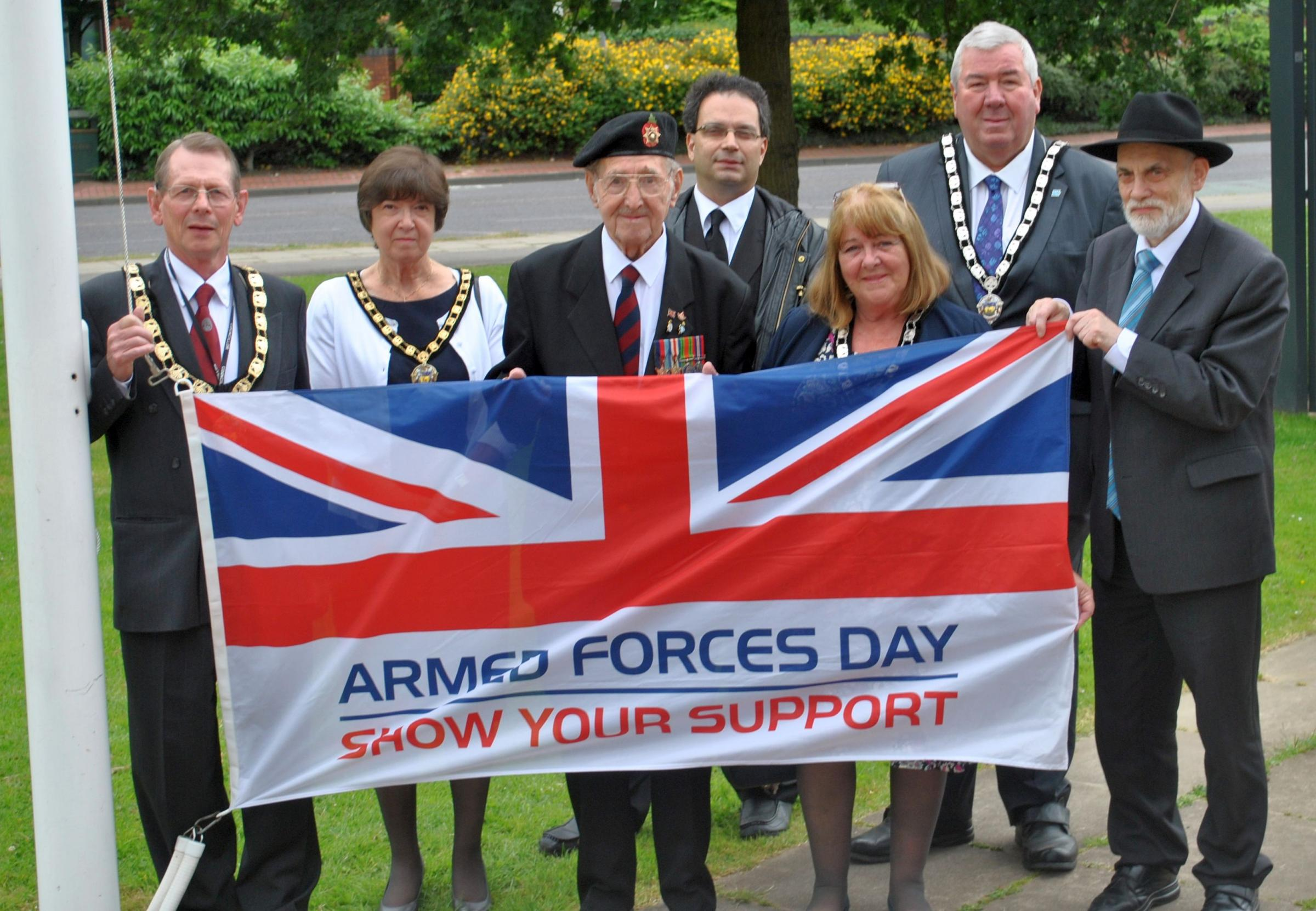 Mayor Councillor Carey Keates led a flag-raising ceremony to commemorate this weekend's Armed Forces Day.