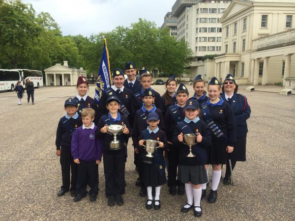 Borehamwood's Jewish Lads and Girls Brigade won a number of awards after they attended the National Parade for Awards at the Wellington Barracks