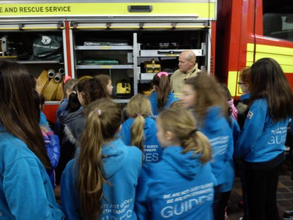 The group from 1st Stanmore visited the station and were treated to a chip pan demonstration
