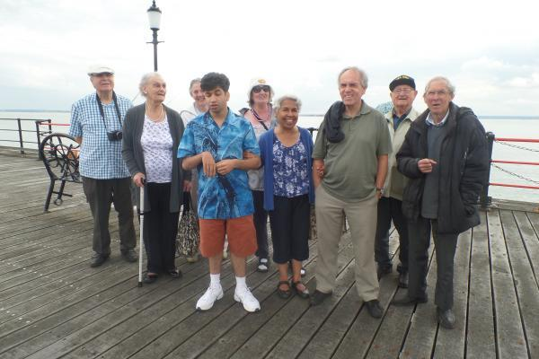 The Visually Impaired Club usually meet in Maxwell Park Community Centre but after a few fundraising efforts, the group were treated to an afternoon by the sea.