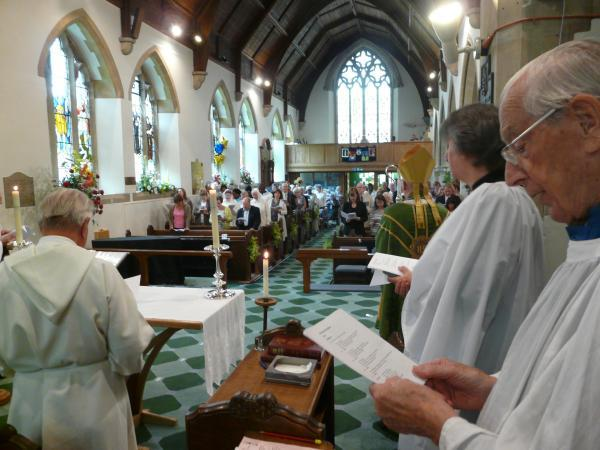Christ Church, in Watling Street, Radlett, has been celebrating its 150th anniversary with the return of several former members of the clergy