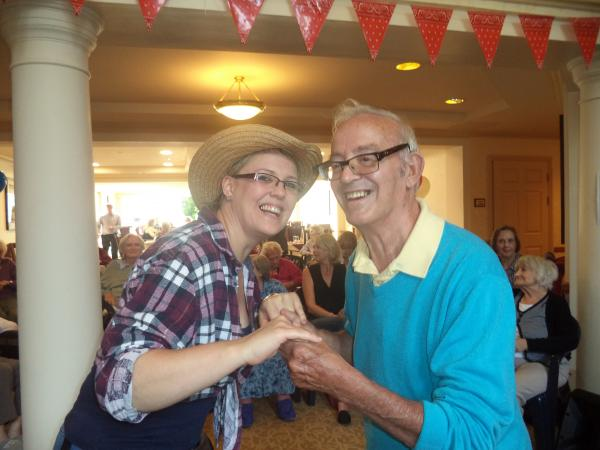 Sunrise Senior Living of Elstree hosted a country and western themed garden party f