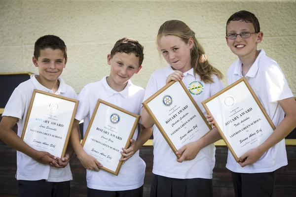 Pupils from 11 schools across the town have been awarded certificates by the Elstree and Borehamwood Rotary Club for their displays of selflessness and community spirit.