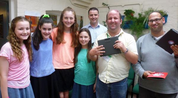 The girls handed over the iPads