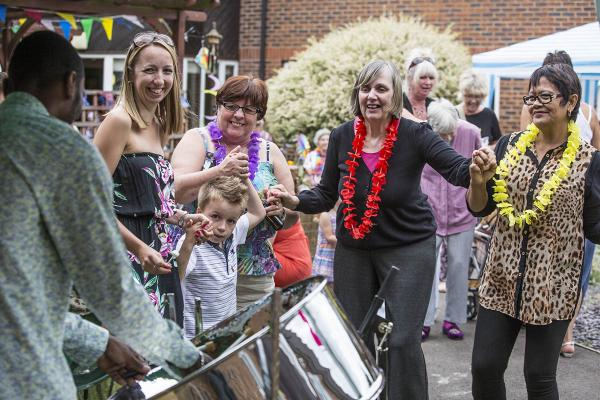 Care home hosts tropical afternoon at annual garden party