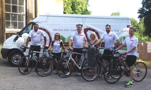Cyclists from Childbase Partnership were on day four of a 14-day bike ride, which covered 767 miles and stopped at each of their 47 children's nurseries