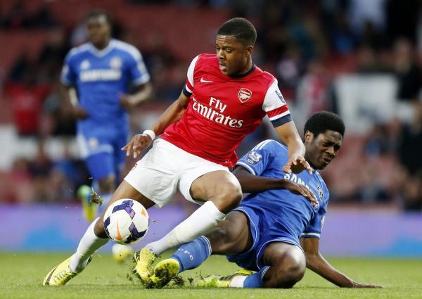 Arsenal Under-21's Chuba Akpom in action for the Gunners last season. Picture: Action Images