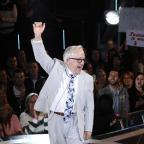 Borehamwood Times: Channel 5 handout photo of Leslie Jordan as he is evicted from the Celebrity Big Brother house, at Elstree Studios, Borehamwood.