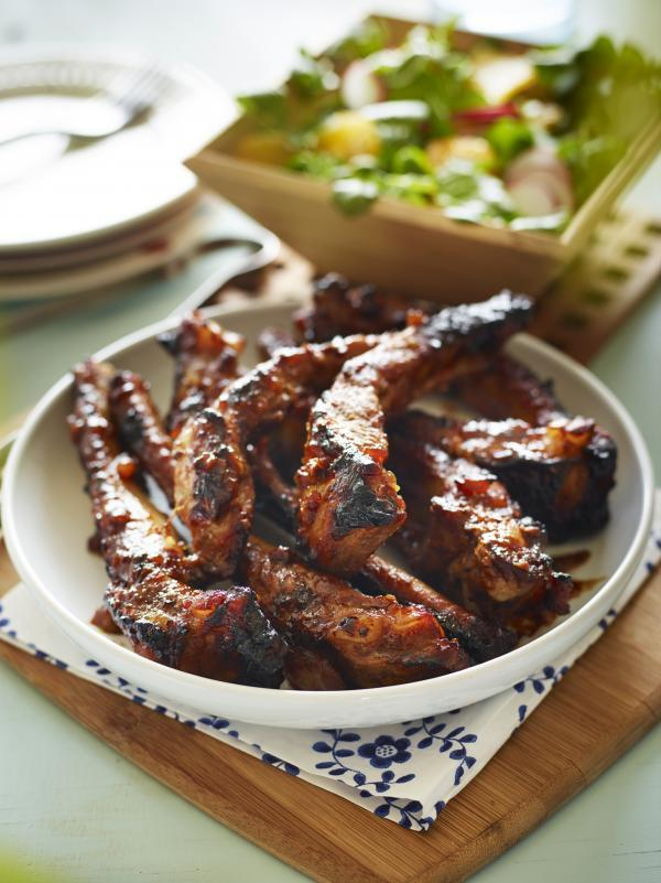 Recipe: Spiced marmalade glazed pork ribs with fresh radish salad