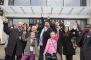 Eager crowds gathered for Debenhams grand opening