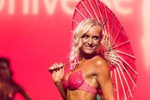 Woman wins fitness competition
