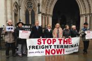 Railfreight protesters at the High Court