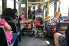 "Stubborn bus passengers who refuse to get of the way for a wheelchair user could be ""shamed"" into moving, says the Supreme Court"