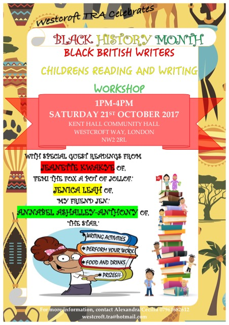 BLACK HISTORY MONTH CHILDRENS READING AND WRITING WORKSHOP