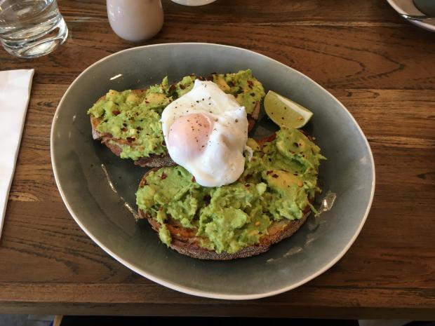 Borehamwood Times: Avocado on toast with chilli and lime, and a poached egg