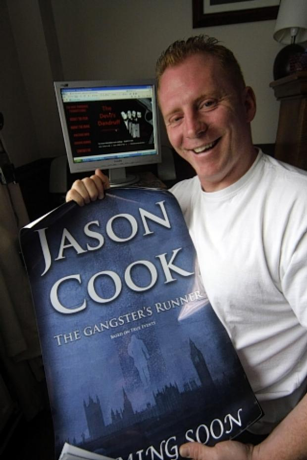 Borehamwood Times: Jason Cook with a promo for No Room for Jugglers at the Circus
