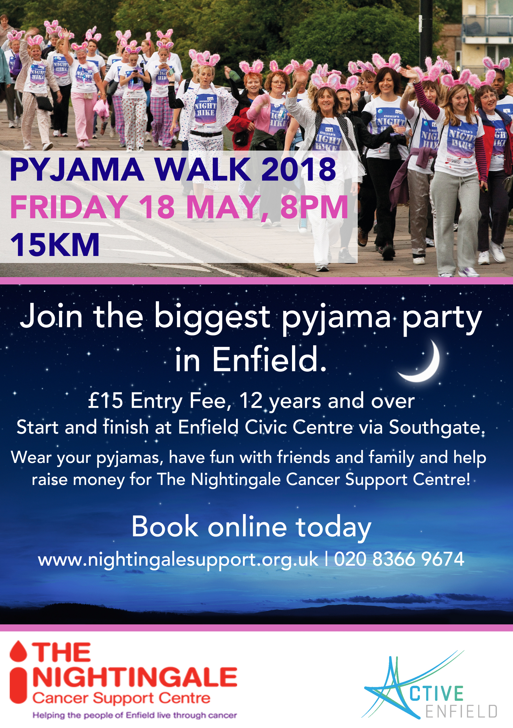 The Nightingale Pyjama Walk - Night Hike 2018