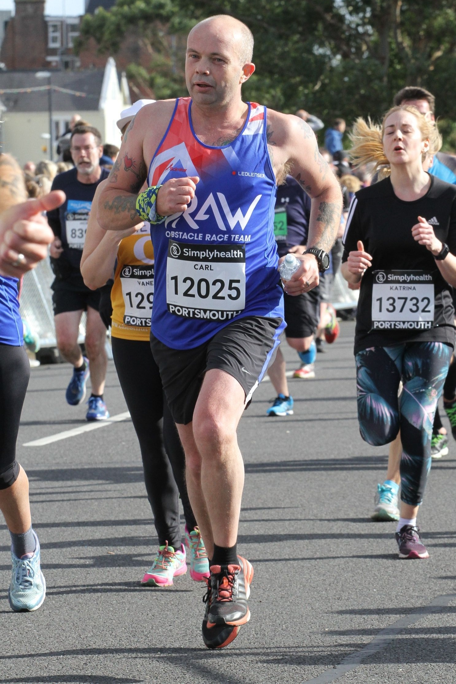Carl Graham in action in the Great South Run