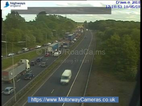 A1 at Colney Heath Credit: Motorway Cameras