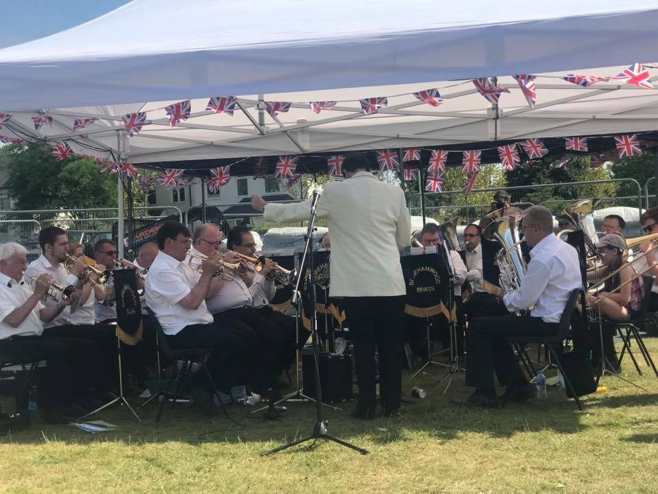 Borehamwood Brass Band in Meadow Park