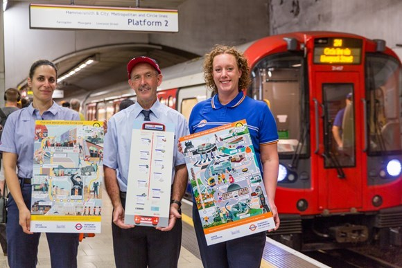 TfL staff promoting Wonderful World of Off-Peak campaign