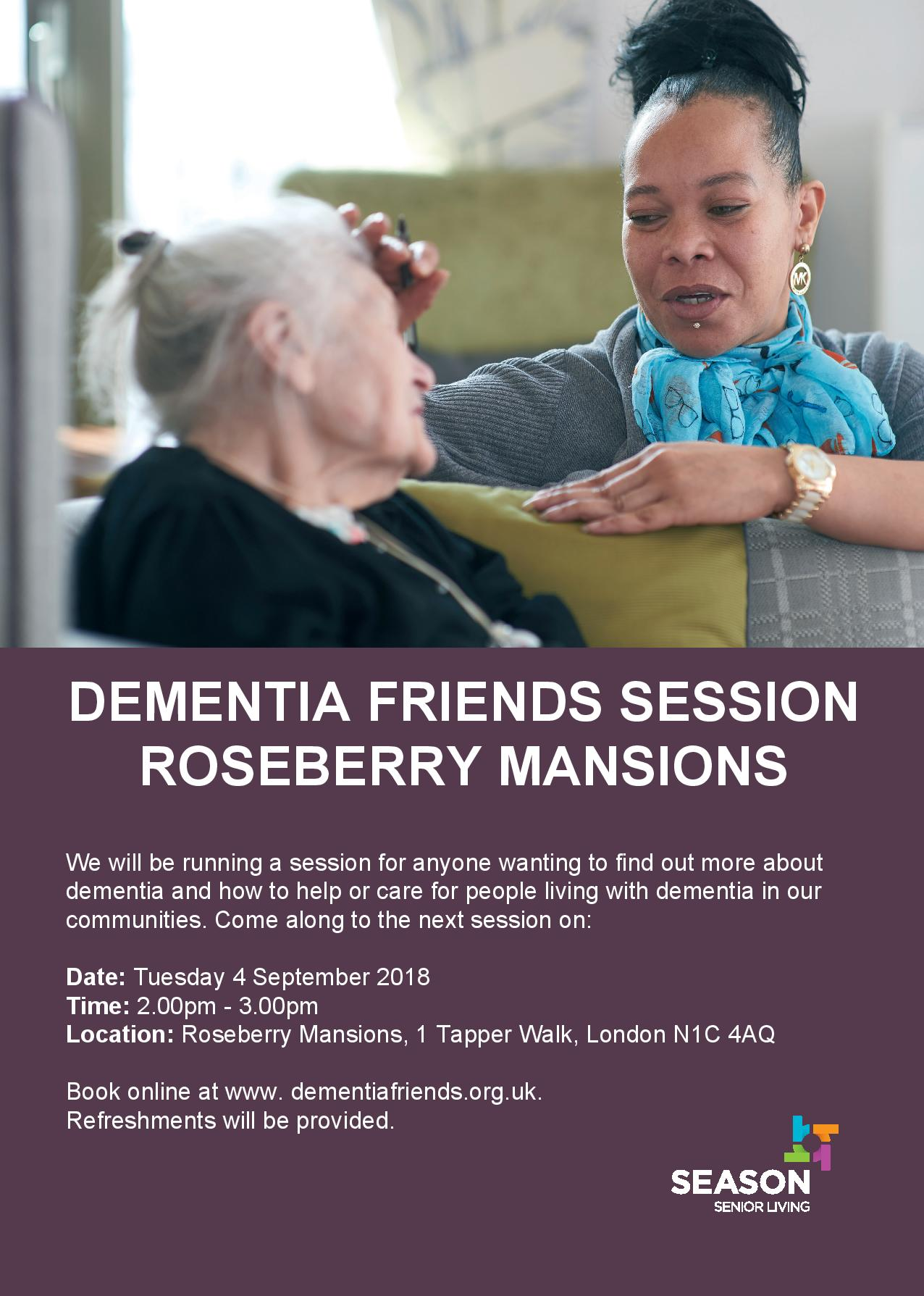 DEMENTIA FRIENDS SESSION ROSEBERRY MANSIONS