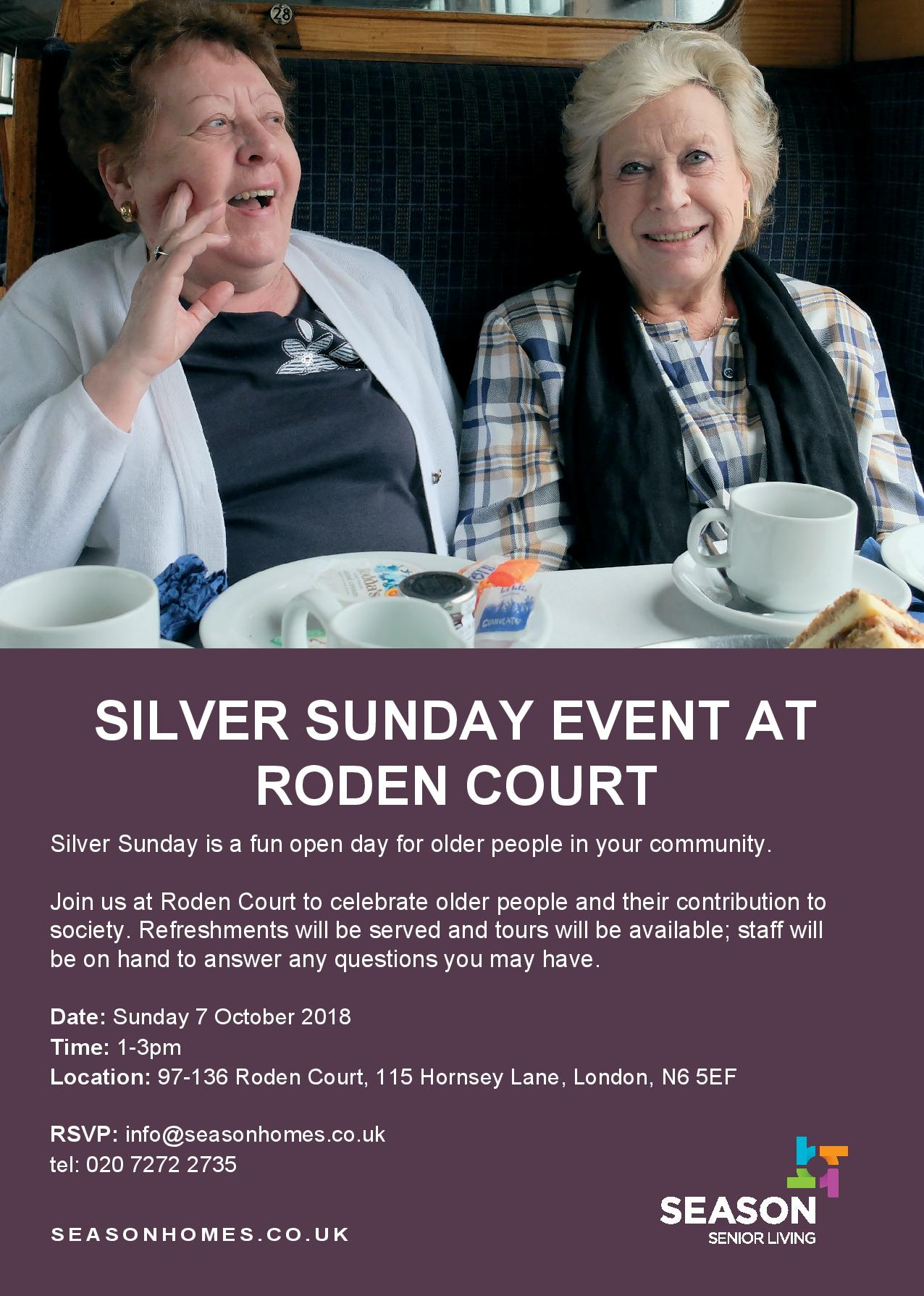 SILVER SUNDAY EVENT RODEN COURT