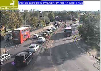 Traffic in Elstree Way approaching the Tesco roundabout Picture: Herts Highways