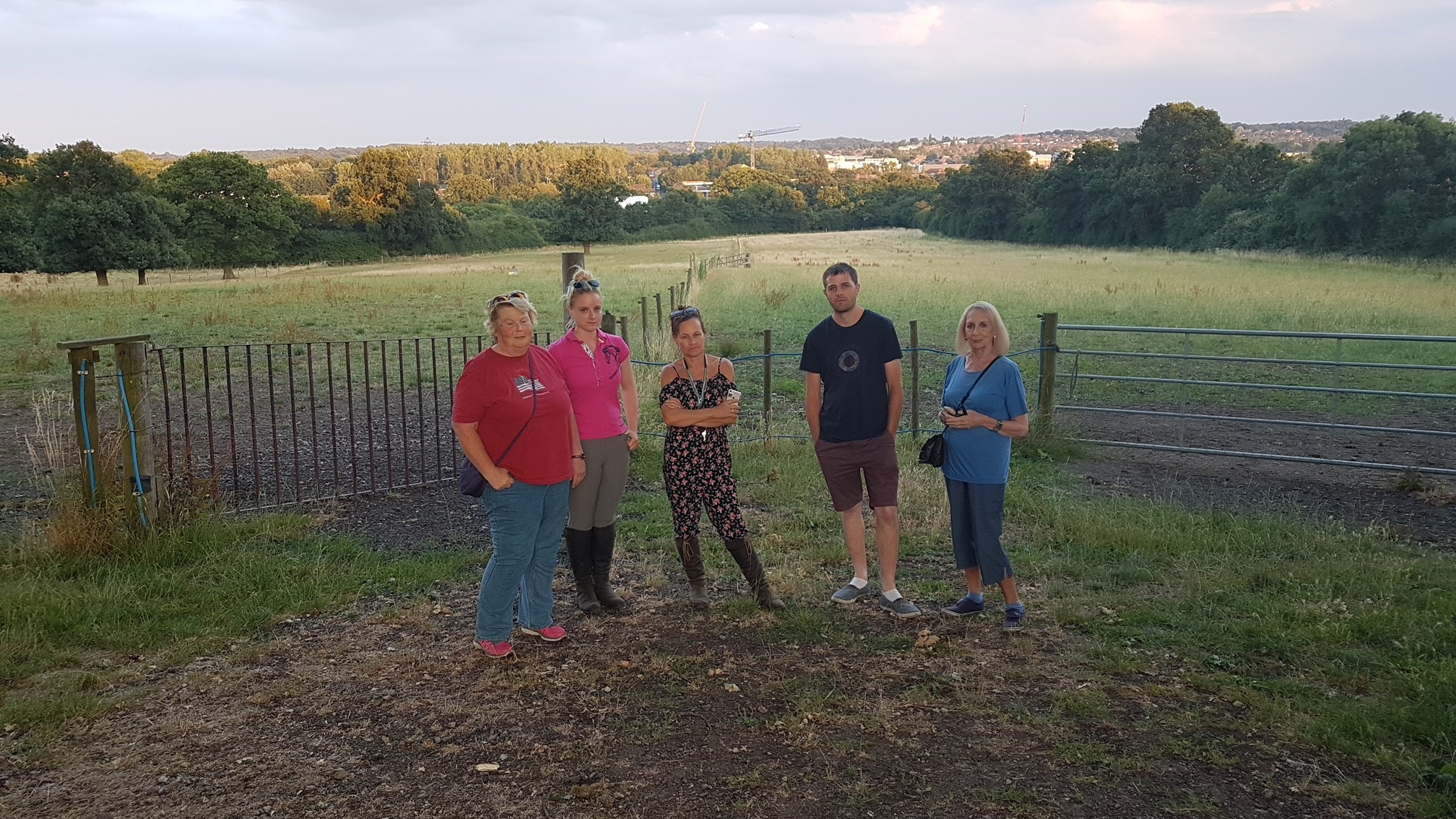 Campaigners who objected to a homes development in Potters Lane, Well End, which has been passed