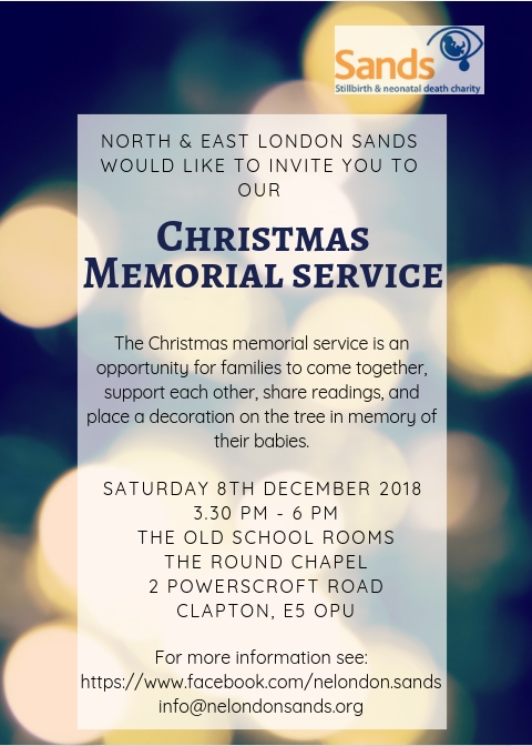 North & East London Sands Christmas Memorial Service