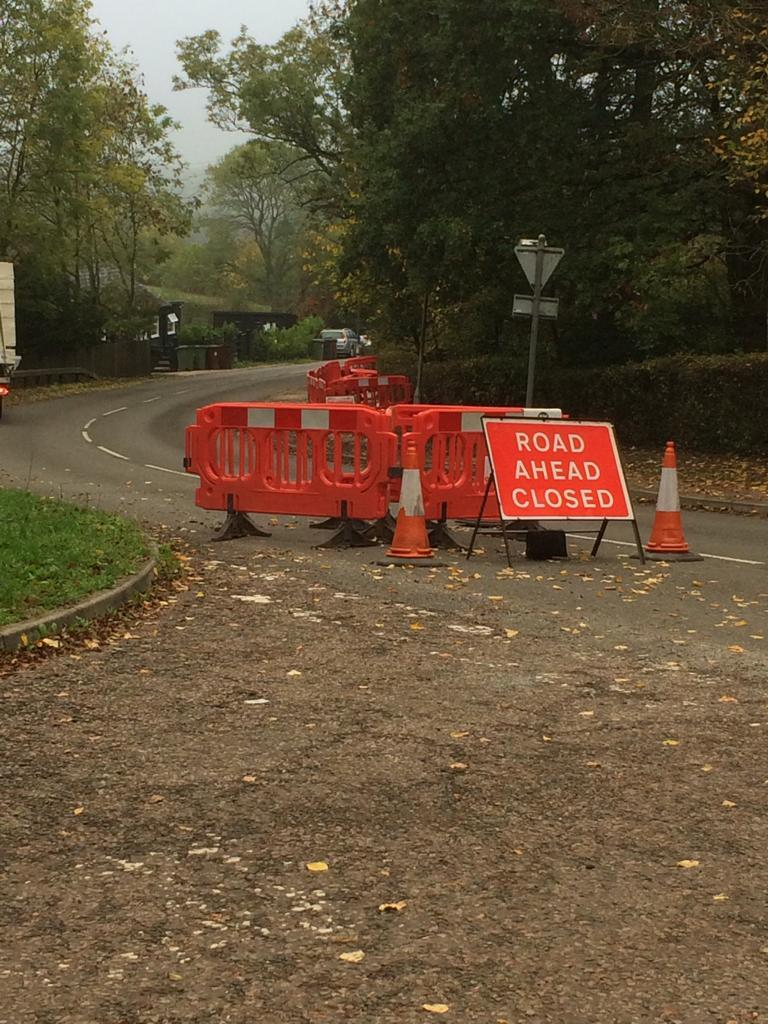 A closure has been in place in Radlett Lane for the past couple of weeks