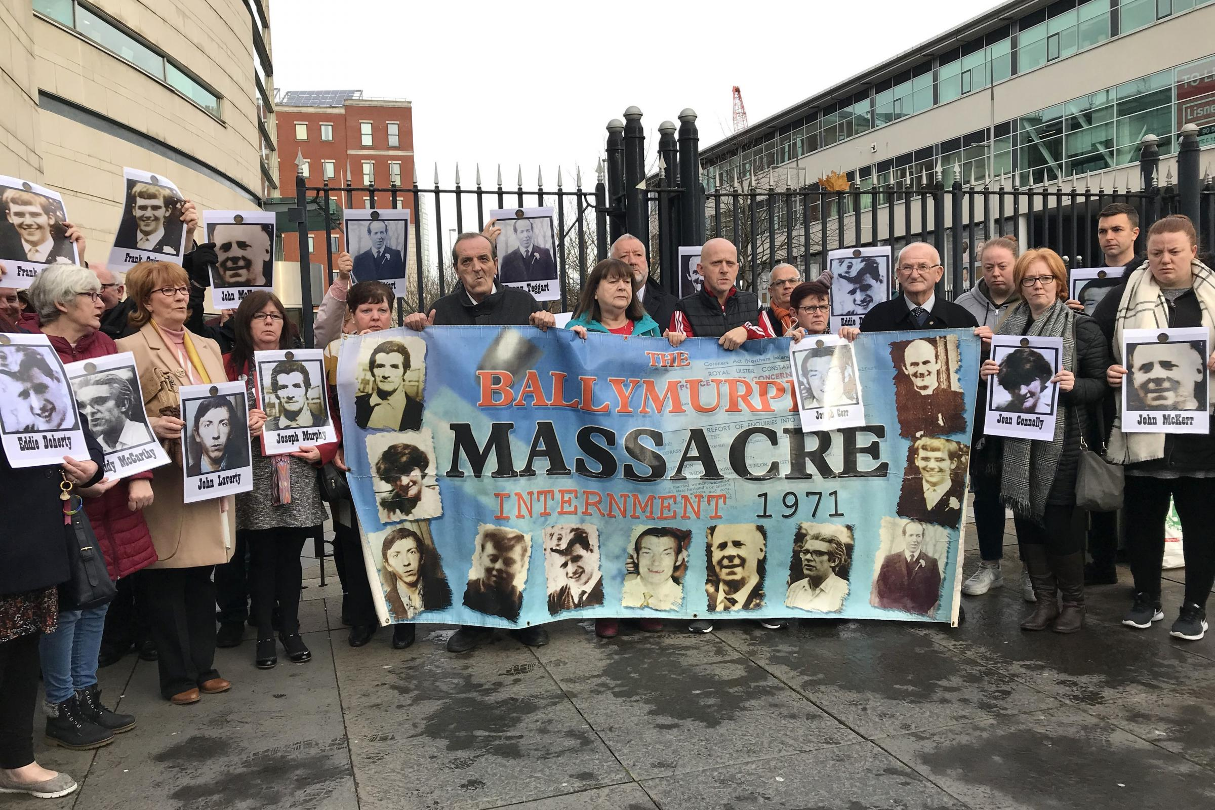 Cross-party delegation of senators offer support for Ballymurphy families