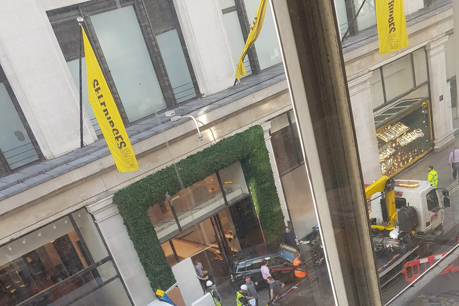 Armed group use car to launch smash raid at luxury Oxford Street store
